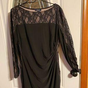 Chaps black dress
